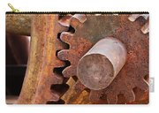 Rusty Metal Gears Carry-all Pouch by Phyllis Denton
