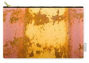 Rusty Oil Barrels Yellow Red Background Pattern Carry-all Pouch