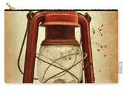 Rusty Old Lantern On Aged Textured Background E59 Carry-all Pouch