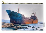 Rusty Old Shipwreck Aground  On Rocky Reef Carry-all Pouch