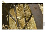 Rusty Old Wheel And Yellow Grasses Carry-all Pouch
