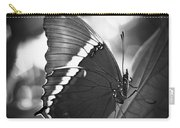 Rusty Tip Butterfly Black And White Carry-all Pouch
