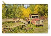 Rusty Truck And Grader Forgotten In Fall Forest Carry-all Pouch
