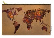 Rusty Vintage World Map On Old Metal Sheet Wall Carry-all Pouch by Design Turnpike