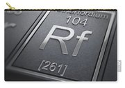 Rutherfordium Chemical Element Carry-all Pouch