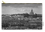 Sacre Coeur Over Rooftops Black And White Version Carry-all Pouch