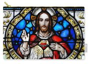 Sacred Heart Of Jesus In Stained Glass Carry-all Pouch