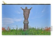 Sacred Heart Of Jesus Sculpture In Saint Laurent On Ile D'orleans-qc Carry-all Pouch