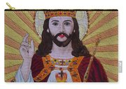 Sacred Heart Of Jesus Hand Embroidery Carry-all Pouch