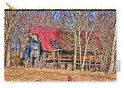 Sad Barn -  Featured In 'old Buildings And Ruins' Carry-all Pouch