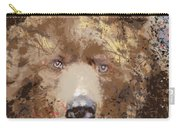 Sad Brown Bear Carry-all Pouch