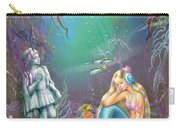 Sad Little Mermaid Carry-all Pouch by Zorina Baldescu