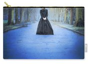 Sad Victorian Woman Alone In A Park At Dusk Carry-all Pouch