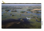 Safari Airplane Flying Over Okavango Carry-all Pouch