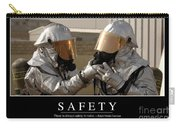 Safety Inspirational Quote Carry-all Pouch