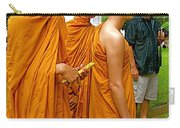 Saffron-robed Monks At Buddhist University In Chiang Mai-thailand Carry-all Pouch