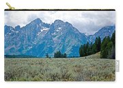Sagebrush Flatland And Teton Peaks Near Jenny Lake In Grand Teton National Park-wyoming- Carry-all Pouch
