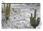 Saguaro Cacti After Rare Desert Carry-all Pouch