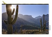 Saguaro Cacti And Catalina Mountains Carry-all Pouch