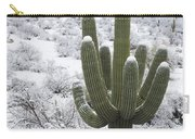 Saguaro Cactus After Rare Desert Carry-all Pouch