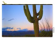 Saguaro Dusk Carry-all Pouch by Mike  Dawson