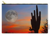Saguaro Full Moon Sunset Carry-all Pouch