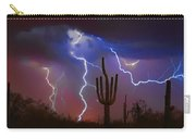Saguaro Lightning Nature Fine Art Photograph Carry-all Pouch