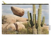 Saguaros And Big Rocks Carry-all Pouch