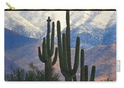 Saguaros And Snow Carry-all Pouch