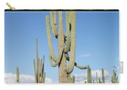 Saguaros With Green Grass Carry-all Pouch