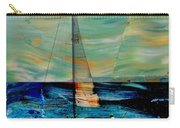 Sailboat And Abstract Carry-all Pouch