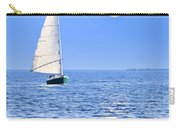 Sailboat At Full Moon Carry-all Pouch by Elena Elisseeva