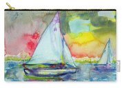Sailboat Evening Wc On Paper Carry-all Pouch