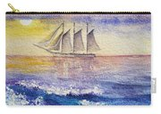 Sailboat In The Ocean Carry-all Pouch by Irina Sztukowski