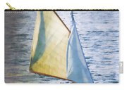 Sailboat Off Marthas Vineyard Massachusetts Carry-all Pouch by Carol Leigh