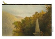 Sailboat On River Carry-all Pouch