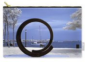 Sailboat Through Omphalos Sculpture Near Infrared Carry-all Pouch