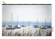 Sailboats At Rest Carry-all Pouch by Bill Cannon