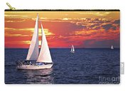 Sailboats At Sunset Carry-all Pouch by Elena Elisseeva
