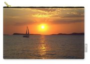 Sailing Boat In Ibiza Sunset Carry-all Pouch