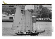 Sailing Free In Black And White Carry-all Pouch