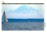 Sailing In Mt. Rainier's Shadow Carry-all Pouch