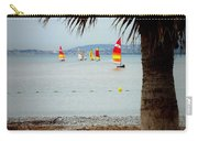 Sailing On A Cloudy Morning Carry-all Pouch by Lainie Wrightson
