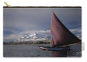 Sailing Boat On Lake Titicaca Carry-all Pouch