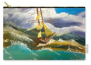 Sailing Ship In A Storm Carry-all Pouch