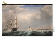 Sailing Ships Off The New England Coast Carry-all Pouch