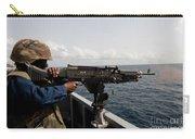 Sailor Fires A M240b Machine Gun Aboard Carry-all Pouch
