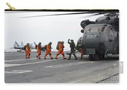 Sailors Board An Mh-53e Sea Dragon Carry-all Pouch