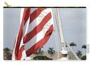 Sailors Hoist The American Flag Carry-all Pouch