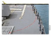 Sailors Man The Rails On Uss Mccampbell Carry-all Pouch